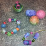 Wet Felting Objects from Alexis!