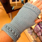 fingerless gloves summer knitting project