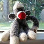 sew easy sock monkey mascot